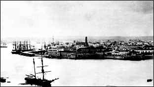 Havana harbor around 1850