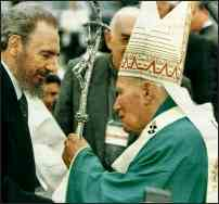 Castro meets the Pope