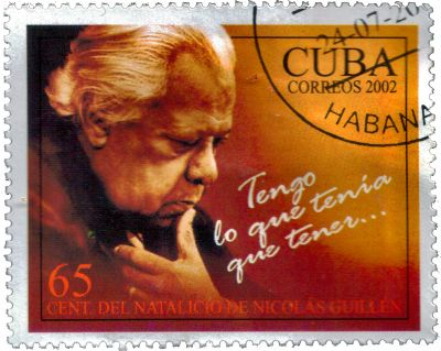 Nocolas Guillen on a Cuban Stamp